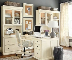 office desk, home office decor, and home office design image
