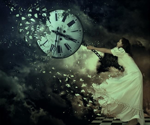 time, clock, and art image