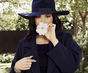 kylie jenner, flowers, and hat image