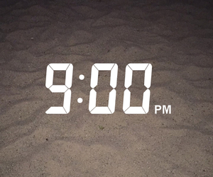 beach, night, and time image