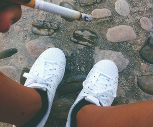 adidas, adolescence, and cigarette image