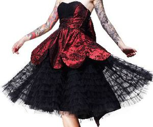 dress, goth, and skirt image