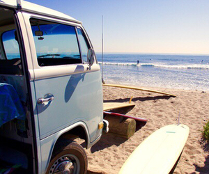 beach and surfing image