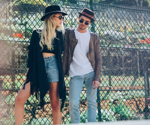 chapeau, couple, and style image
