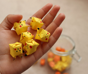 origami, pikachu, and pokemon image