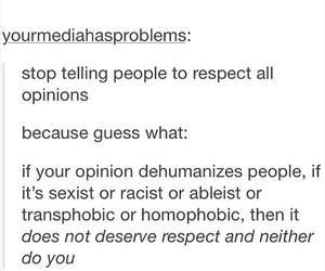 homophobia, opinion, and racism image