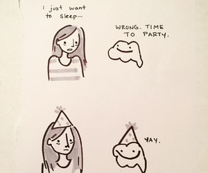 drawing, funny, and party image