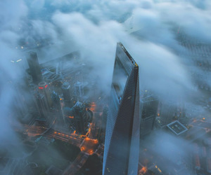 city and clouds image