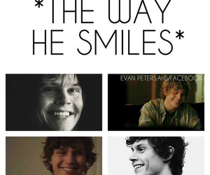 smile, evan peters, and american horror story image