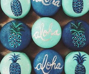 Aloha, pineapple, and blue image