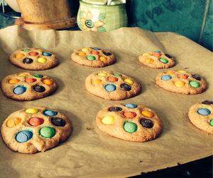 chocolate, Cookies, and m&m image
