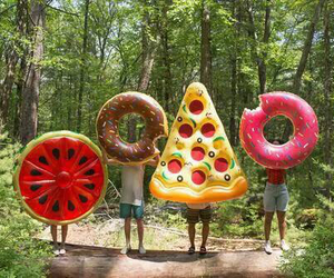 donut, summer, and donuts image
