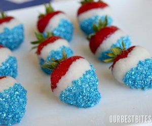 strawberry, blue, and food image