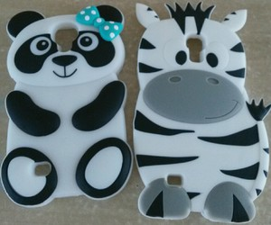 black&white, case, and panda image