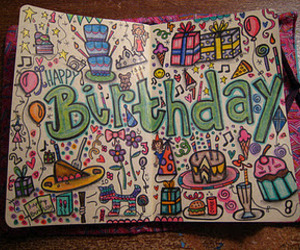 birthday, drawing, and text image
