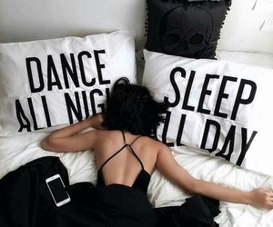 bed, black, and dance image