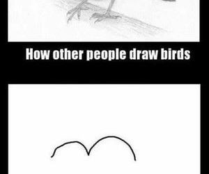 bird, funny, and draw image