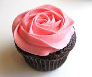 cupcake, rose, and chocolate image