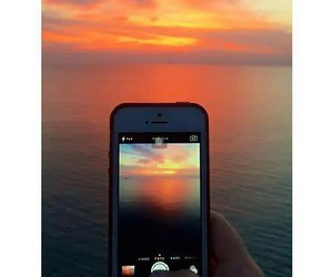 sunset, beautiful, and colorful image