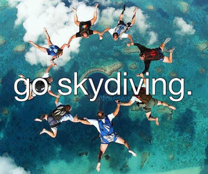 air, diving, and people image