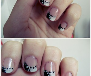 black, nail art, and black n white image