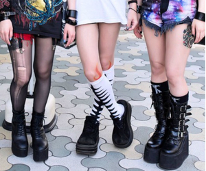 boots, creeper, and socks image