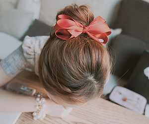 bow, hairstyle, and accessories image
