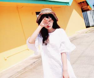 cute girl, fashion, and kfashion image