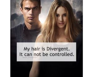 divergent, book, and hair image