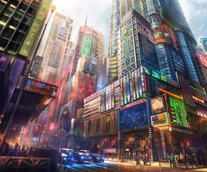 city, illustration, and colorful image