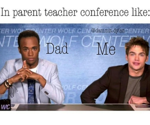 dad, funny, and school image
