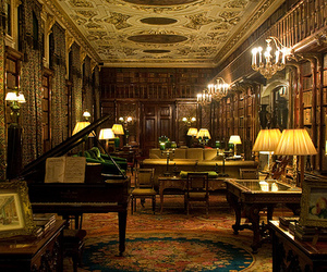 britain, library, and chatsworth house image