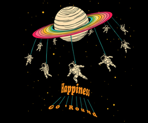 space, happiness, and planet image