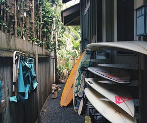 surfboard, summer, and surfing image