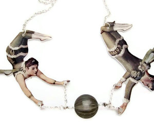 acrobat, circus, and necklace image