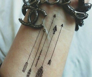 tattoo, arrow, and chanel image