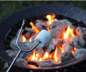 fire, marshmallow, and tumblr image