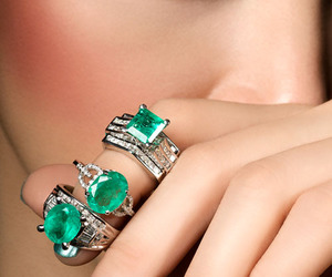 rings, emerald, and green image