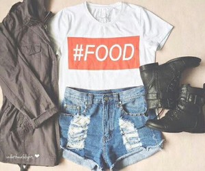 fashion, food, and outfit image
