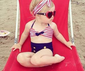 baby, beach, and summer image