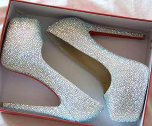 shoes, heels, and glitter image