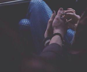 couple, hands, and photography image