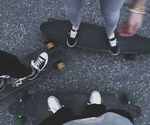 skate, friends, and grunge image