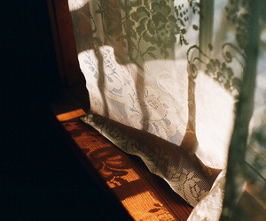 vintage, light, and curtains image