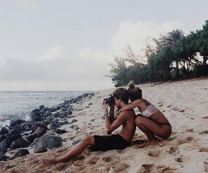 beach, paradise, and travelling image