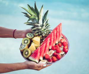 fruit, beach, and food image