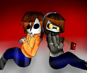 creepypasta, masky, and ticci toby image