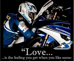 blue, motorcycle, and love image
