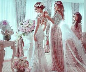 wedding, bride, and dress image