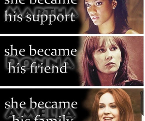 doctor who, rose tyler, and companions image